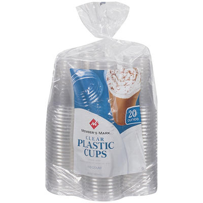 Member's Mark® Clear Plastic Cups - 20 oz. / 100 ct.
