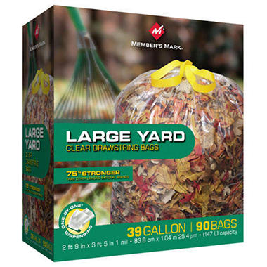 Member's Mark� Drawstring Yard Bags - 39 gal. - 90 ct.