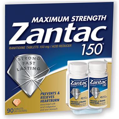 Zantac 150mg Maximum Strength - 90 ct.