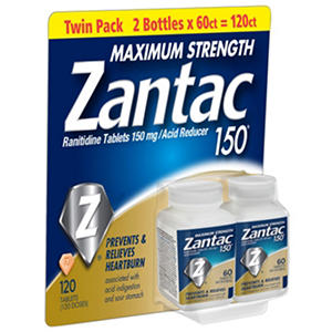 Zantac 150mg Maximum Strength, 120 ct.
