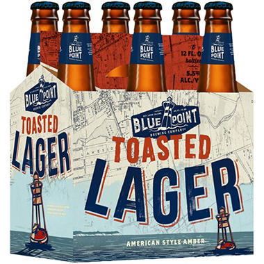 BLUE POINT  LAGER 6 / 12 OZ BOTTLES