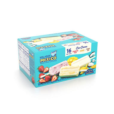 Helados Mexico Ice Cream Bars - Fruit - 3 oz. - 16 pk.