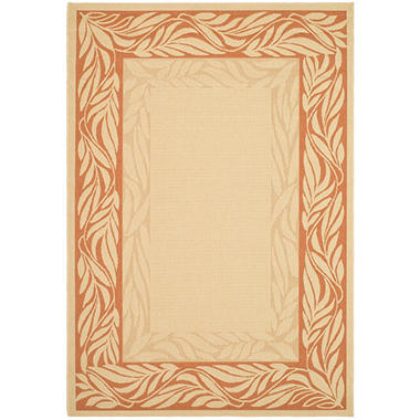 "Courtyard Rug Natural Terracotta 4 × 5 7"" Sam s Club"