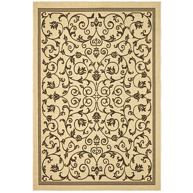 "Courtyard Rug Natural Brown 7 10"" × 11 Sam s Club"