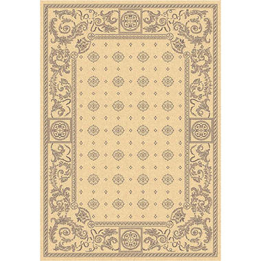 "Courtyard Rug - Natural/Brown 5'3"" � 7'7"""