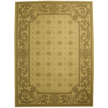 "Courtyard Rug - Natural/Brown 7'10"" × 11'"