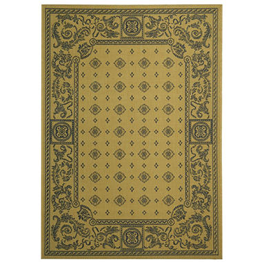 Courtyard Rug - Natural/Terracotta - 4' � 5'7""