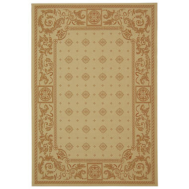 "Courtyard Rug - Natural/Terracotta 5'3"" × 7'7"""