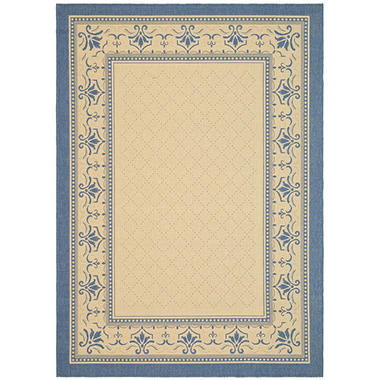 "Courtyard Rug - Natural/Blue 7'10"" � 11'"