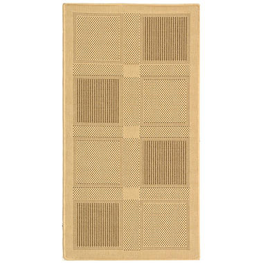 Courtyard Rug - Nautural/Brown  - 4' � 5'7""