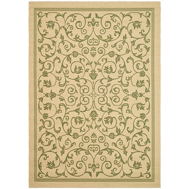 Courtyard Rug - Natural/Olive 7'10
