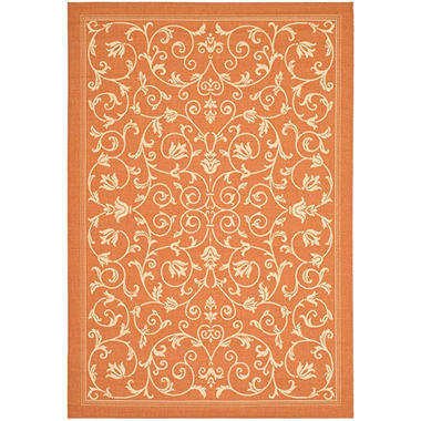 Courtyard Rug - Natural/Terracotta - 4' × 5'7""