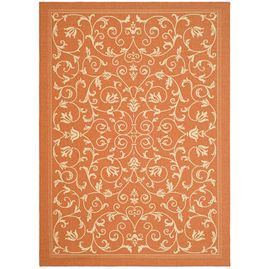 "Courtyard Rug - Natural/Terracotta 7'10"" × 11'"