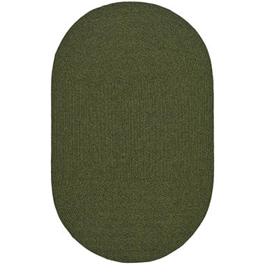 Safavieh Braided Oval Rug - Green - 3' x 5'