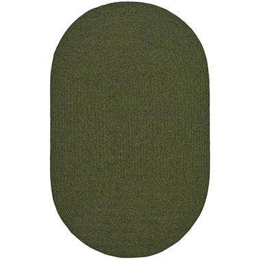 Safavieh Braided Oval Rug - Green - 8' x 10'