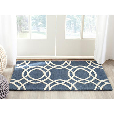 Plush Textured Rug, Various Colors