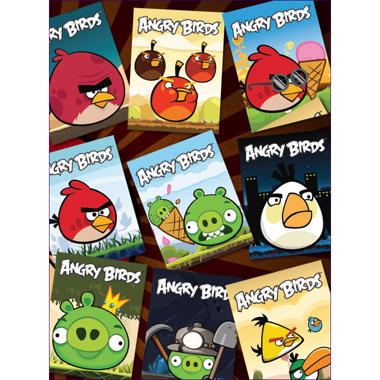 "Angry Birds Stickers - 3"" x 4"" - 12 ct."