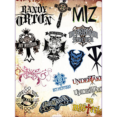 "WWE Temporary Tattoos - 3"" x 4"" - 12 ct."