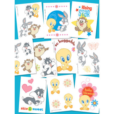 "Baby Looney Tunes Temporary Tattoos #2 - 3"" x 4"" - 10 ct."