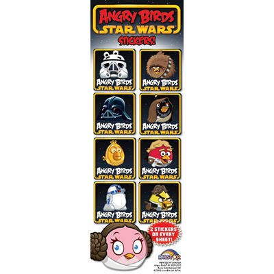 Angry Bird and Star Wars Stickers - 300 pc.