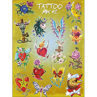 Assorted Tattoos - 300 count