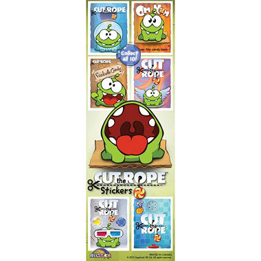 Cut the Rope Stickers - 300 pc.