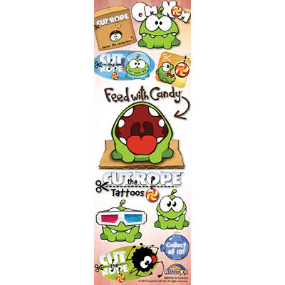 Cut the Rope Tattoos - 300 pc.