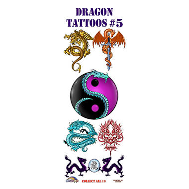 Dragon Tattoos #5 - 300 pc.