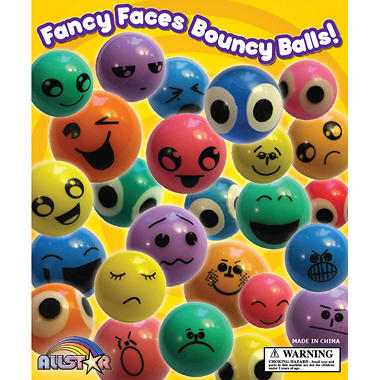Allstar 27mm Fancy Face Bouncy Balls