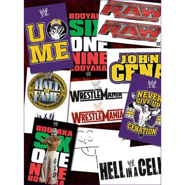 """WWE Stickers - 3"""" x 4"""" - 10 ct."""