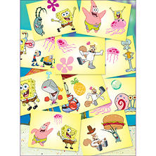 "Spongebob Squarepants Tattoos - 3"" x 4"" - 300 ct."