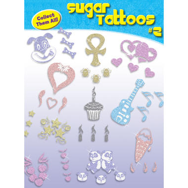 "Sugar Tattoos #2 - 2.5"" x 3.5"" - 15 ct."