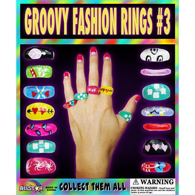 "Groovy Fashion Rings - 1"" Capsules - 250 ct."