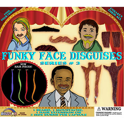 "Funky Face Disguises - 2"" Capsules - 250 ct."