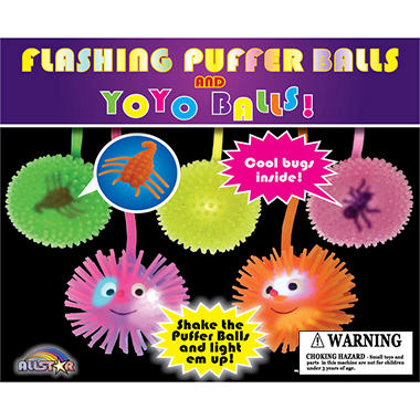 "Flash Puffer YoYo Balls - 2"" Capsules - 250 ct."