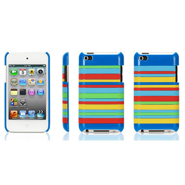 Griffin Snappy Stripes Case for iPod Touch 4G - Blue