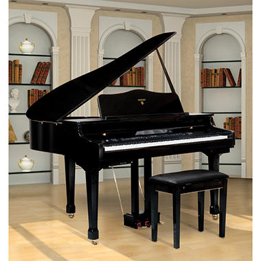 "Adagio 4'1"" Digital Baby Grand Piano with Bench"