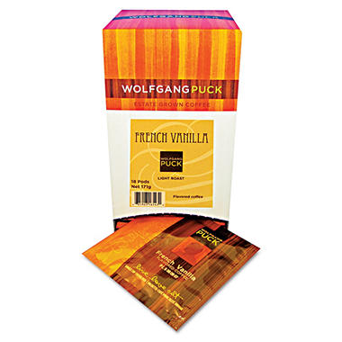 Wolfgang Puck Coffee Pods, French Vanilla (18 ct.)