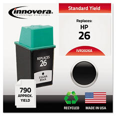 Innovera - 2026A Compatible, Remanufactured, 51626A (26) Ink, 790 Page Yield - Black