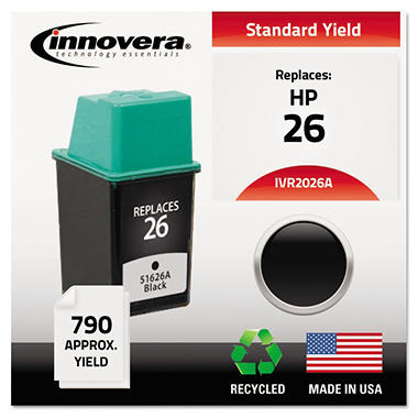 Innovera® Remanufactured 51626A (26) Ink, Black