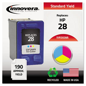 Innovera - 2028A Compatible, Remanufactured, 8728AN (28) Ink, 190 Page Yield - Tri-Color