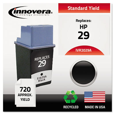 Innovera - 2029A Compatible, Remanufactured, 51629A (29) Ink, 720 Page Yield - Black