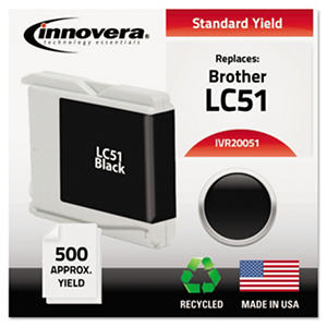 Innovera - 20051 Compatible, Remanufactured, LC51BK Ink, 500 Page Yield - Black