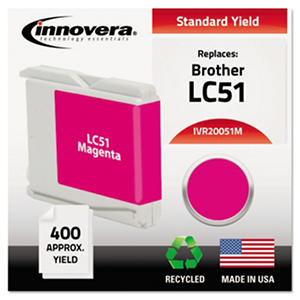 Innovera - 20051M Compatible, Remanufactured, LC51M Ink, 400 Page Yield - Magenta