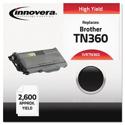 Innovera TN360 Compatible, Remanufactured,Laser Toner, Black (2,600 Page Yield)