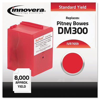 Innovera - 7659 Compatible, Reman, Ink 765-9 Postage Meter,  8000 Page Yield - Red