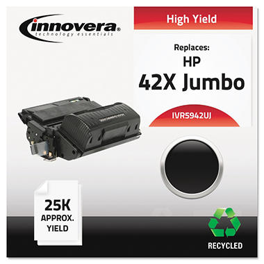 Innovera® Remanufactured Q5942X(J) (42XJ) High-Yield Toner, Black