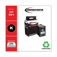 Innovera® Remanufactured CC653AN (901) Ink, Black