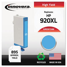 Innovera® Remanufactured CD972AN (920XL) High-Yield Chipped Ink, Cyan