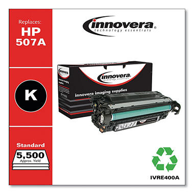 Innovera® Remanufactured CE400A (507A) Toner, Black